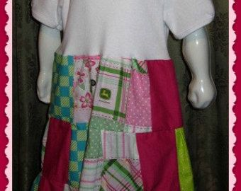 Girls, John Deer, Hairband,Pageant,Christmas,Gift,Bandana,Peasant Dress Top,Pants,Boutique,Coulture,Child,Baby,infant,CUSTOM ORDERS WELCOME,