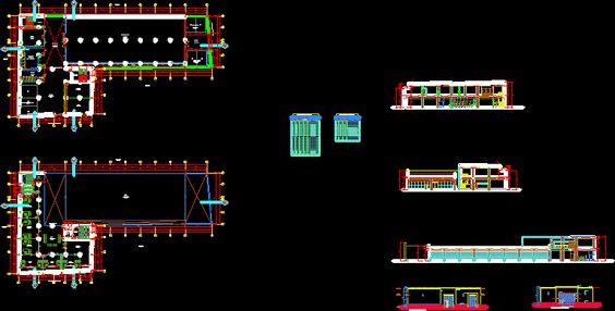 Planta industrial de extrusion (dwgDibujo de Autocad)
