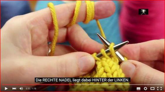 Für Strickanfänger erklärt: Rechts verschränkte Maschen stricken