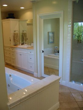 Master Bath created from spare bedroom Barbara Stock Interior Design