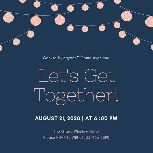 Family Get Together Invitation Letter Fresh Customize 675 Get To Her Invitation Temp Invitation Wording Invitation Template Wedding Invitation Wording Examples