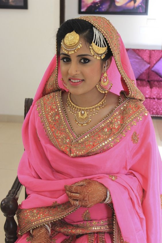 real weddings traditional sikh wedding dress photo