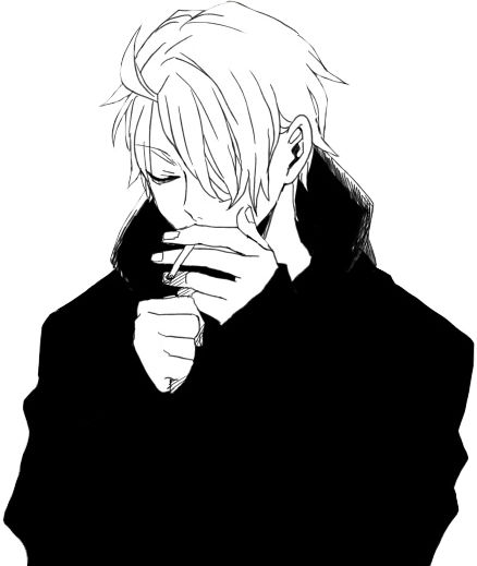 Anime boy smoking