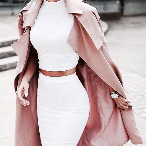 Wheretogetters have been craving for this outfit lately  If you know where to get this, help them on Wheretoget.it or by downloading our app  Psst you can also post items you're coveting  #fashion #ootd #shopping #wheretogetit #twopiece #croptop #bodycon