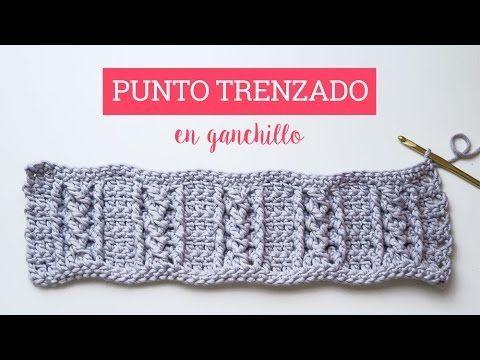 Tutorial punto trenzado en ganchillo | Crochet cable stitch - YouTube