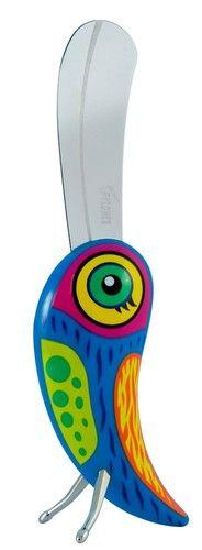 keladeco.com - #couteau à #beurre #oiseau fanfaron bleu, idée deco originale oiseau - PYLONES