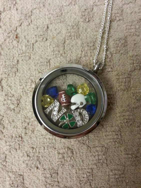 origami owl notre dame locket 87 for silver ball station