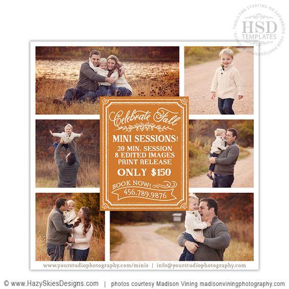 Fall Mini Session Template for Photographers #fall #autumn #mini ...