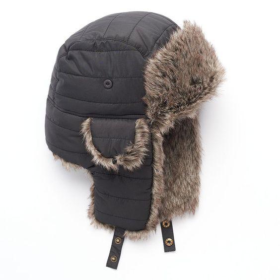 Men's Urban Pipeline Trapper Hat, Black