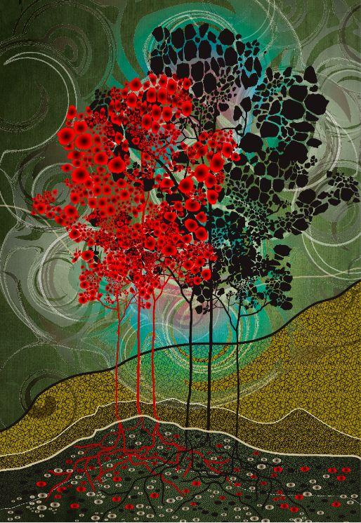 Red Tree...Sarah Arnett
