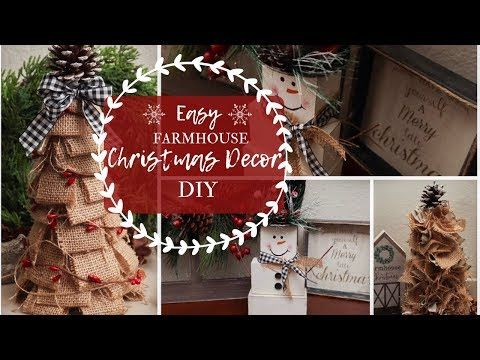 Easy Farmhouse Christmas Decor Diy Christmas Crafts 2019 Youtube Christmas Diy Christmas Crafts Diy Christmas Crafts Decorations