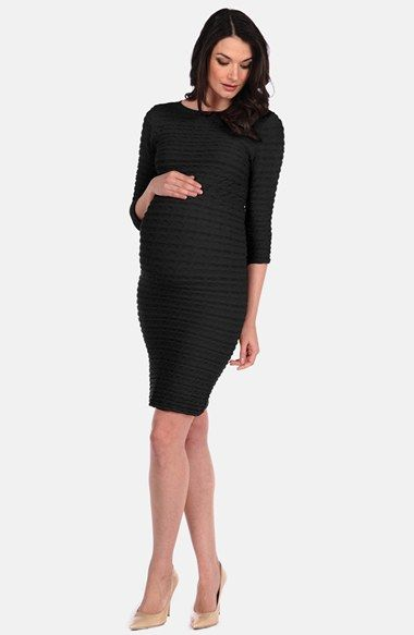 Tees by Tina 'Crinkle' Maternity Dress available at #Nordstrom