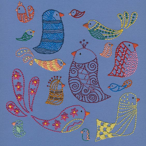 Bird Sampler embroidery pattern PDF $5
