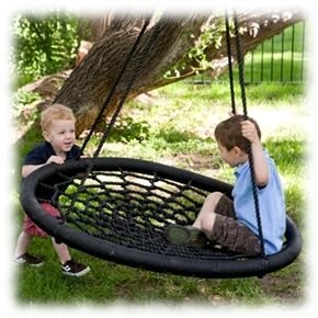 """36"""" Large Spider Swing - great site with treehouse supplies - need that swing"""