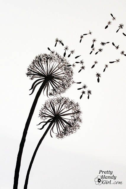 Handpaint some dandelions step by step on this blog for How to draw a dandelion step by step