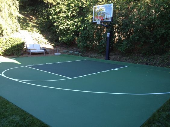 Basketball Court Surfaces and Paint Garage Gym Pinterest