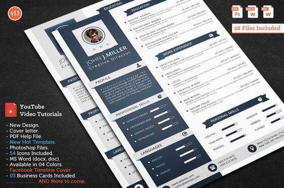 Smasher CV Resume by CodePower on @creativemarket Education - video resume
