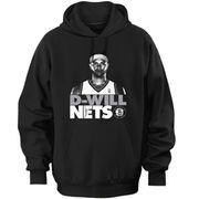 cool Majestic Deron Williams Brooklyn Nets Participant Sport Face 2.zero Hoodie - Black
