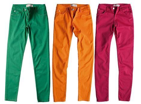 Pantalones de colores ¡verdes!