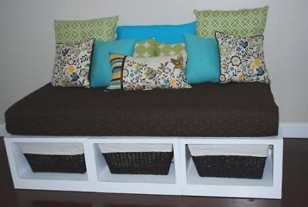 Re-purpose a crib mattress.