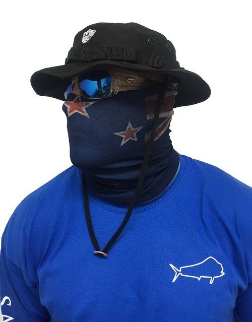 Sun protection faces and new zealand on pinterest for Fishing face shield