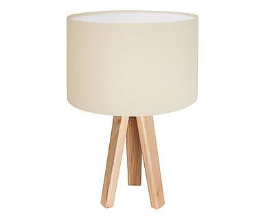 Tischleuchte Verbena, beige/weiß, H 45 cm