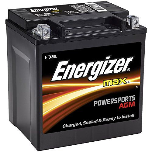 Energizer Etx30l Agm Motorcycle And Atv 12v Battery 385 Cold Cranking Amps And 30 Ahr Replaces Tx30l And Others In 2020 With Images Energizer Motorcycle Battery