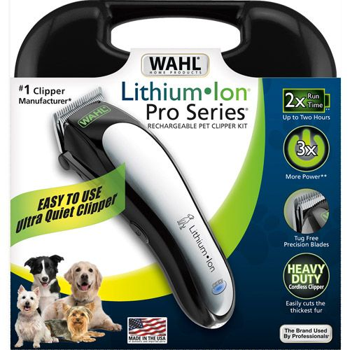 Wahl Lithium Ion Pro Series Rechargeable Pet Clipper Kit Dog Grooming Dog Clippers Dog Grooming Supplies