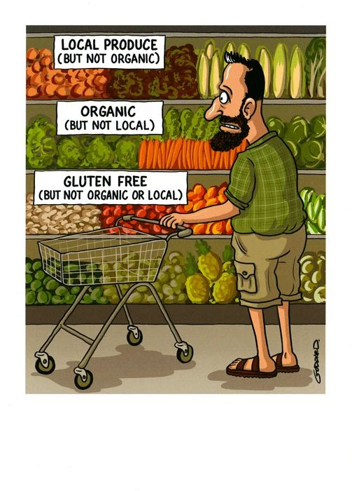 Funny birthday card - Local, Organic, Gluten Free | Comedy Card Company