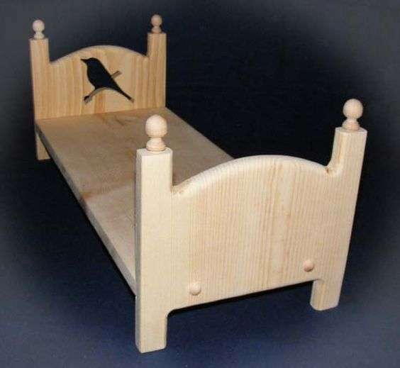 Handmade Wooden Stackable Single Bird Doll Bed 18 Inch American Girl Doll Furniture Girl Dolls