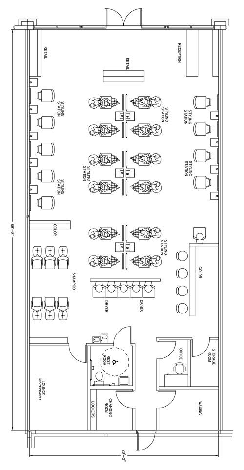 Sun design and ps on pinterest for Design a beauty salon floor plan