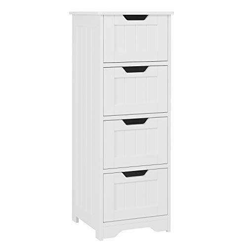 18+ Wooden bathroom floor cabinet free standing storage organizer white type