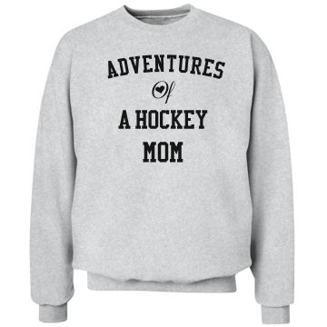 Adventures of a hockey mom | Custom hoodie for the hockey moms.