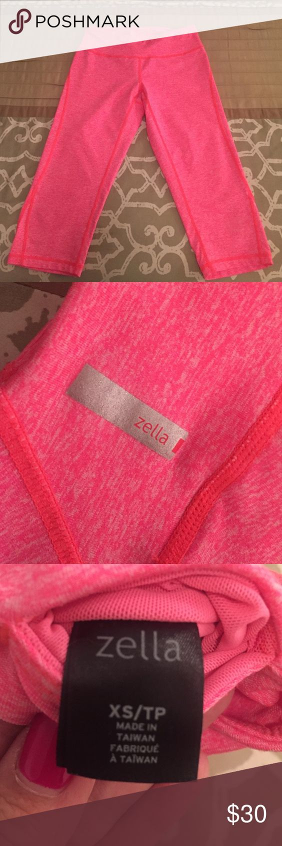 """ZELLA Live In Capris Zella """"Live In"""" capris, bright heathered coral, size XS from Nordstrom. Excellent condition - no rips, stains or tears. Comfy and great for working out :) Zella Pants Capris"""