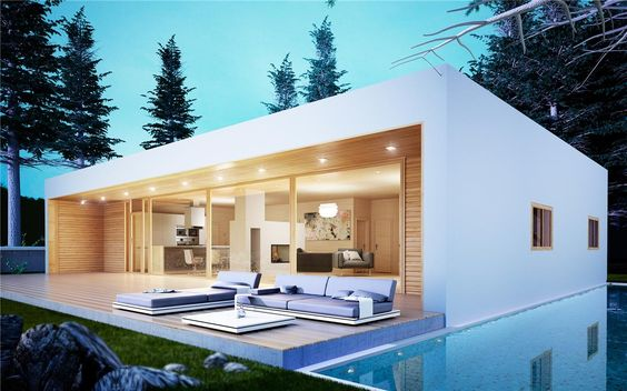 Moderna casa piloto 150m2 casas piloto casas - Casa prefabricada moderna ...