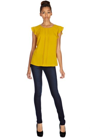 Mustard yellow top from oasis