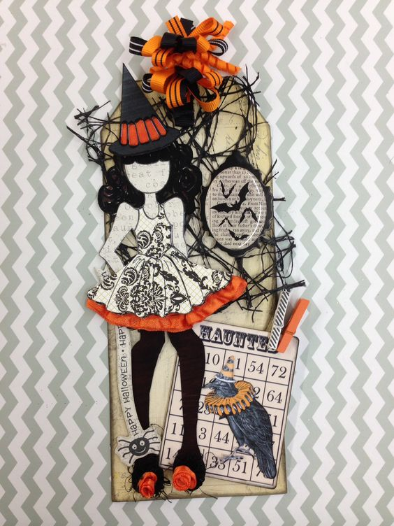 I'm loving the Julie Nutting Prima Dolls. This is my Halloween cutie!