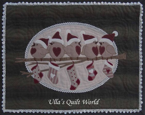 Ulla's Quilt World: Birds wall hanging quilt