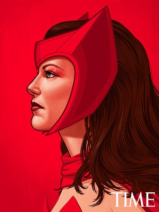 Mike Mitchell - Marvel Portraits Time scarlet-witch