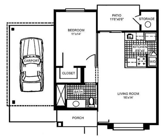 small house floor plan i d prefer not to have carport traditional house plans carport 20 062 associated designs
