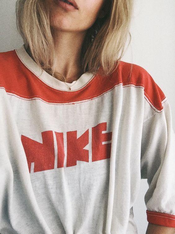 vintage 70s nike shirt via mija fashion pinterest