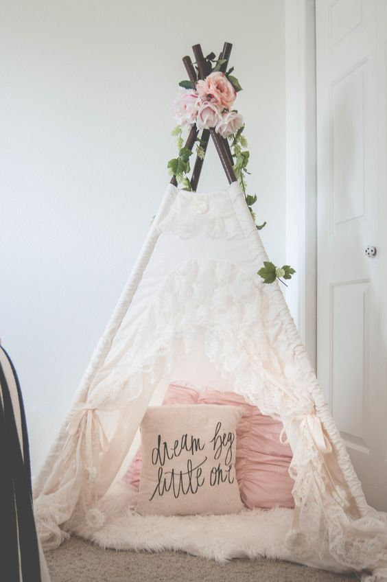 "The ""Bianca"" teepee from SugarShacksTeepee She doesn't even know how long I'll wait for her to come into our lives. She's loved more as a thought and dream than some ever get in a entire lifetime!!! SPH:"