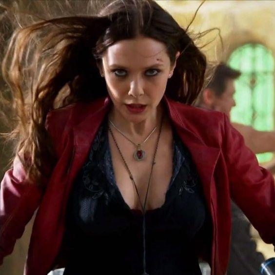 Marvel Comics Super Hero Scarlet Witch Mini Dress Cosplay Costume cs12