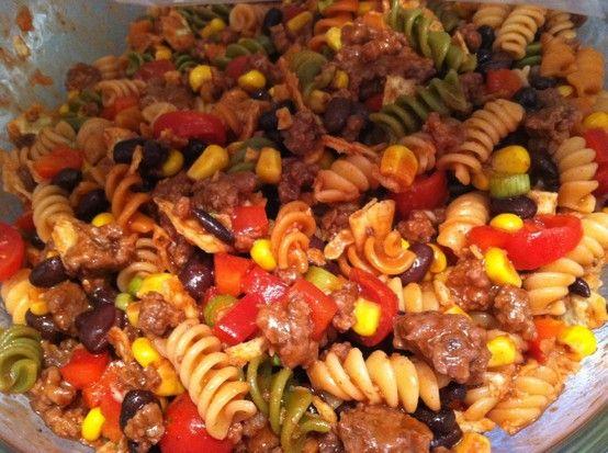 Recipes spiral pasta