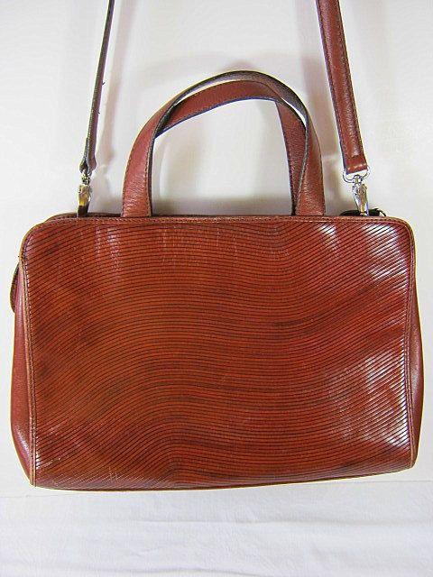 Vintage Etienne Aigner Brown Leather Hand Bag   by LavenderGardenCottag