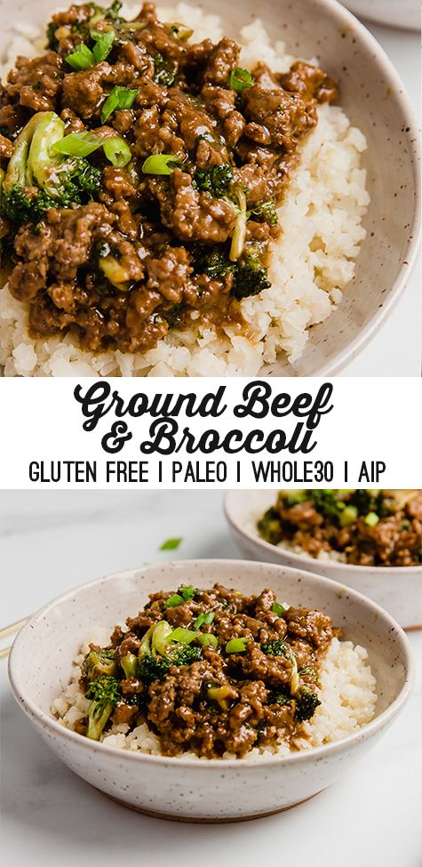 Ground Beef Broccoli Paleo Whole30 Aip Unbound Wellness Recipe In 2020 Ground Beef And Broccoli Ground Beef Beef Recipes