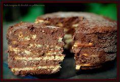 Tarta marquesa de chocolate con galletas maría