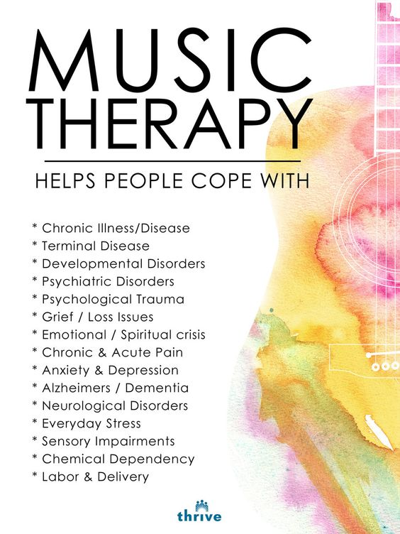 Helping people cope with...I saw it work when my wife was a music therapist in school on a boy with Autism.  I was amazing!!