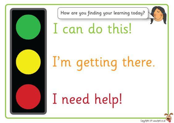 Teachers Pet - Thumbs up assessment cards - FREE Classroom Display - self assessment