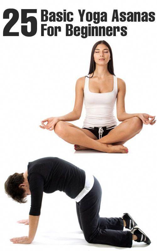 25 Basic Yoga Asanas For Beginners Scifi Basic Yoga Basic Yoga Poses Yoga Asanas